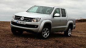 Mit der Doppelkabine bietet der VW-Lastesel nahezu Pkw-gemäßen Reisekomfort.