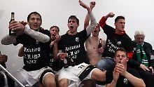 Ganz oben, und bald höherklassig: Der SV Sandhausen steht als erster Aufsteiger in die 2. Fußball-Bundesliga fest.