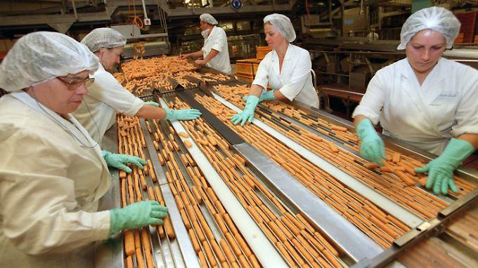 Fischstäbchenproduktion bei Iglo