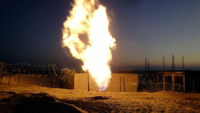 Eine 200 Meter hohe Stichflamme soll bei der Explosion zu sehen gewesen sein - wie bei dieser Gasexplosion vor drei Jahren.