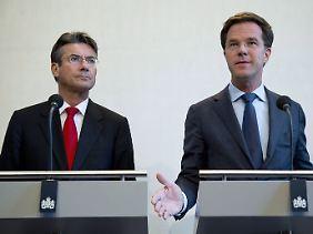 Am Ende: Ministerpräsident Mark Rutte (rechts) und sein Vize, Außenminister Maxime Verhagen.