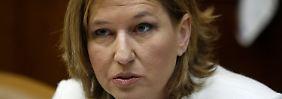 """Zipi Livni will """"die öffentliche Arena"""" nicht verlassen."""