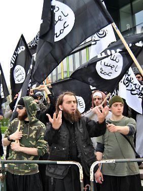 Wütend über die Karikaturen: die islamischen Fundamentalisten.