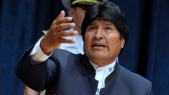 """""""Bolivien braucht Partner, aber keine Besitzer"""", sagt Staatschef Morales."""