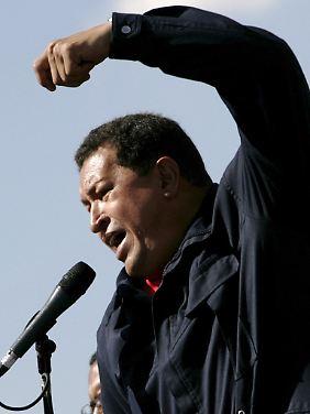 """""""Hurrikan Chávez"""" ist in Kriegsstimmung."""