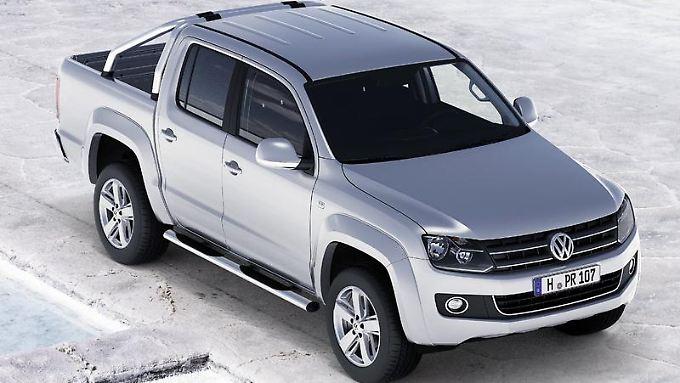 Neu in der Modellpalette von VW: Ab Mitte 2010 können Kunden in Deutschland den Pick-up Amarok kaufen. (Bild: VW/dpa/tmn)