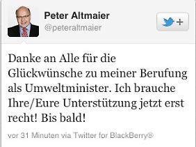Altmaier twittert gerne.