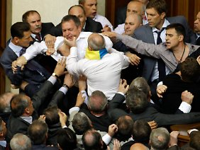 Im Parlament in Kiew sprechen gelegentlich die Fäuste.