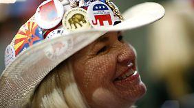 Eine republikanische Delegierte beim Parteitag 2008 in St. Paul.