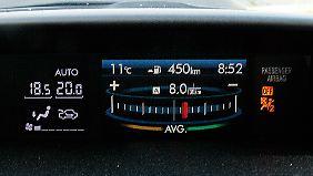 Sparen lernen: Das Verbauchspendel hilft dem Fahrer, verrbauchsoptimiert Gas zu geben.