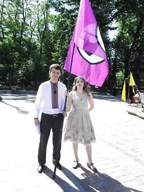 Die Kiewer Piraten richteten für Weisband einen Ehrenempfang aus.