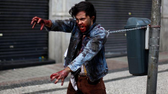 In Sao Paulo ist es nur ein Spiel: Brasilianer verkleiden sich als Zombie. In Miami wurde es dagegen zum blutigen Ernst.