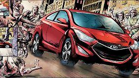 """Im 100. Heft von """"The Walking Dead"""" wird ein Hyundai Elantra GS fahren."""