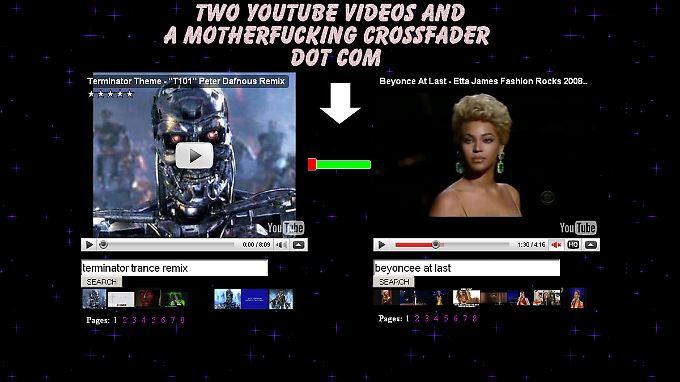 Per Crossfader vom Terminator zu Beyonce - geht nicht, gibt's nicht.
