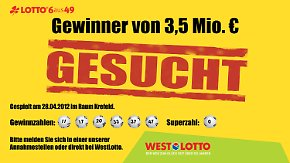 Westlotto sucht Gewinner: Wo steckt der Millionär aus Krefeld?