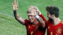 Fernando Torres: 2008 war er Siegtorschütze im EM-Finale, 2012 ist er Torschützenkönig.