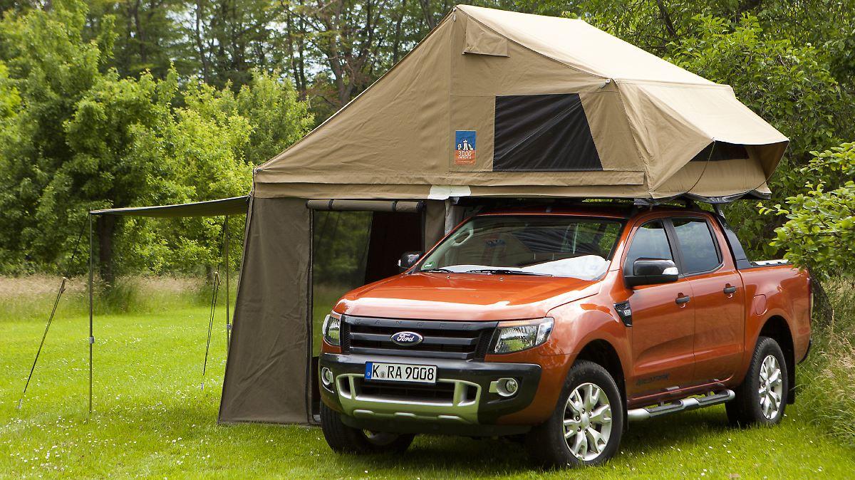 ford ranger camping das fahrbahre zelt f rs gel nde n. Black Bedroom Furniture Sets. Home Design Ideas
