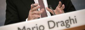 Wie locker sitzt das Geld?: Dax taucht vor Draghi ab