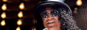 Slash bei der Sternverleihungszeremonie.