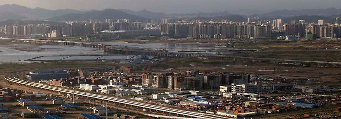 Wirtschaftlich stark an der Küste: Shenzen, unweit von Hongkong.
