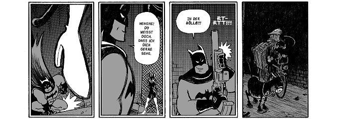 Flix beweist: Er kann auch Batman.