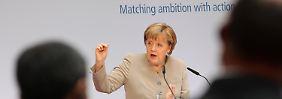 Merkel: Klimawandel wird verheerend: Freiwillige Zusagen reichen nicht