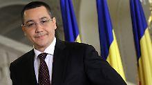 Im rumänischen Machtkampf zwischen Ponta (im Bild) und Staatspräsident Basescu geht es vor allem um die Unabhängigkeit der Justiz.