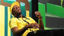 Druck? Kennt Sprint-Superstar Usain Bolt nicht.