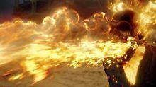 """Heiß, heißer, """"Ghost Rider"""": Spätestens jetzt sollte man nicht in seiner Nähe sein."""