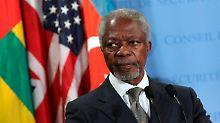 Kofi Annan kündigt seinen Job als Sondergesandter. Er sieht keine Lösung, solange der Sicherheitsrat zertritten bleibt.