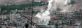 Ein Amateurfoto aus Damaskus.