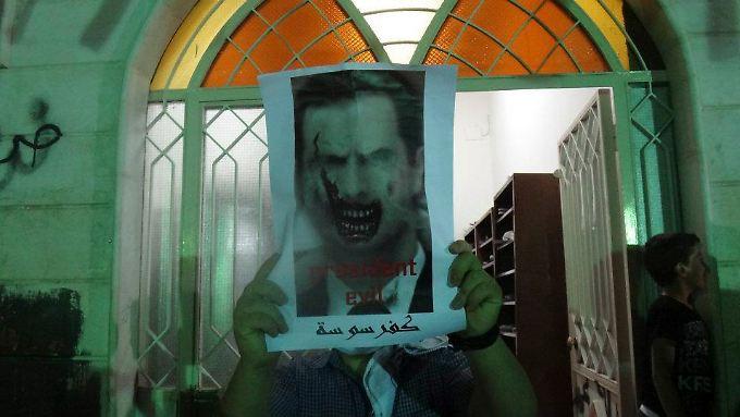 Ein Gegner Assads in Damaskus.
