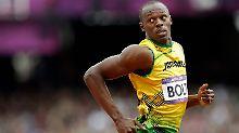 Im Schongang Richtung Gold: Usain Bolt musste sich noch nicht anstrengen über 200 Meter.