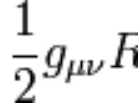 Eine der Einsteinschen Feldgleichungen.