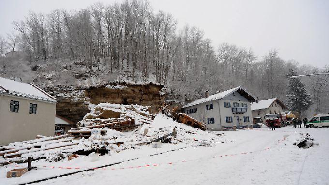 Das Haus wurde komplett zerstört.