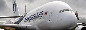 Groß, größer, A380: Malaysia Airlines ist eine der Fluglinien, bei der die Riesenvögel im Einsatz sind. Foto: Andy Rain
