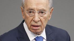 Schimon Peres auf einem Archivbild von 2010.
