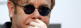 Popstar hat Angst vor Homophobie: Elton John besorgt um Sohn