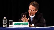 In der Defensive: Timothy Geithner.