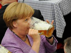 Kann sich mal was gönnen: Merkel.