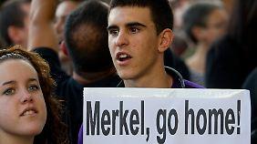 Merkel ist nicht willkommen in Madrid.