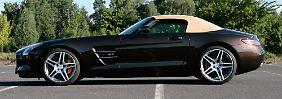 Reizt die Sinne und ist rollender Überfluss: der SLS AMG Roadster.