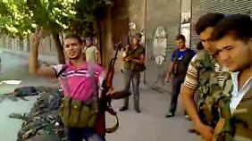 Screenshot aus dem Video des Vorfalls, der angeblich in Aleppo stattgefunden haben soll.