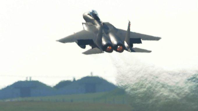 Boeing F-15: ein direkter Konkurrent von Tornado (BAE) und Eurofighter.