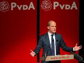 Auch der Sozialdemokrat Diederik Samsom fährt ein ordentliches Wahlergebnis ein.
