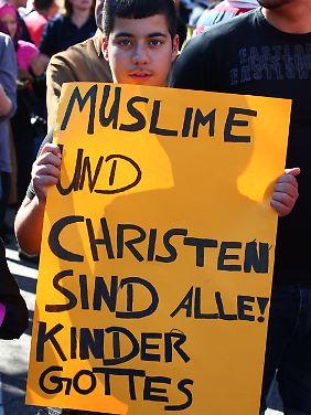 Auch in Freiburg setzten viele auf friedliche Proteste.