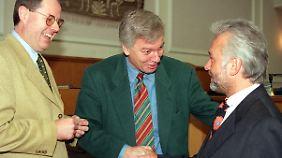 Alte Bekannte: Steinbrück und Kubicki 1997 im Kieler Landtag.