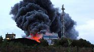 Düngemittel brennt: Rauchwolke über dem Ruhrgebiet