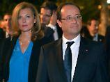 Frankreichs Präsident Hollande und seine aktuelle Lebensgefährtin Valerie Trierweiler in New York. Ist sie der Grund, ...