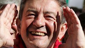 Jean-Luc Mélenchon, Chef des linken Parteienbündnisses, hat ein leichtes Spiel.